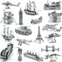 3D metal models, laser cut metal puzzles, UK stock