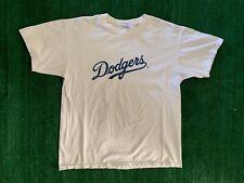 Vintage Dodgers T Shirt Size L White Baseball Glove
