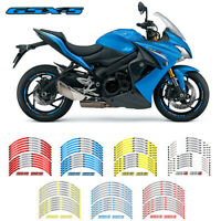 17 inch fit Motorcycle Wheel Sticker Strip Reflective Rim For suzuki GSX-S #P