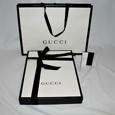 GUCCI Empty Box Gift Set Paper Bag Receipt Holder Ribbon