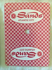 Sands Atlantic City Casino Actual Playing Cards Used - drilled