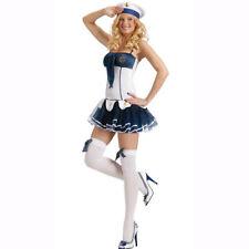 Sexy Navy Sailor Girl Uniform 3-Pieces Dress Costume For Halloween Cosplay SizeM
