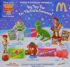 1999 McDonalds Toy Story Candy Dispensers MIP Set - Lot of 6, Boys & Girls, 3+