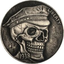 USA 5 Five Dollar Cents Totenkopf Schädel Skull Münze Coin New York Buffalo RAR