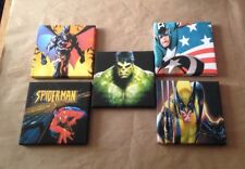 4th Set Of These 5 Marvel & DC Super Hero Canvas Pictures