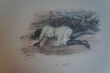 """ABEL PANN (1883/1963) Litho  -   """" UNE VICTIME  """"  - Signé"""