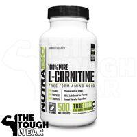 NUTRABIO - L-CARNITINE 500mg 150caps - Free Form Essential Amino Acid 100% Pure