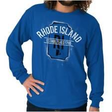 Vintage Rhode Island Sports University Gift Long Sleeve Tshirt Tee for Adults