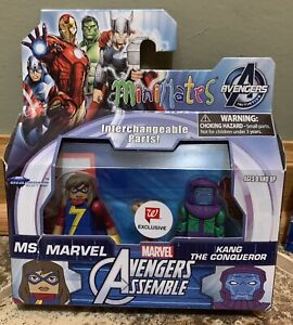 MARVEL AVENGERS MINIMATES MS. MARVEL & KANG THE CONQUEROR WALGREENS EXCLUSIVE