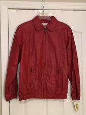 RESTON & YORK Red Leather Jacket. Size Small. NEW.