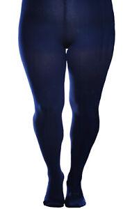 Aurellie Women Warm Winter Comfortable Microfiber Tights Navy (UK Sizes 14-22)