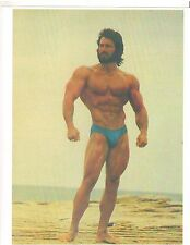 Bodybuilder Frank Zane On The Beach With Beard Bodybuilding Muscle Color Photo