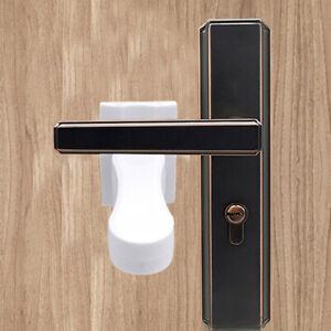 2x Baby Safety Lock Door Lever Locks  Kids Proof Doors Adhesive Lever Handle DH