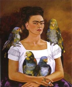 Frida Kahlo My Parrots And I Print 11 x 14   #3776