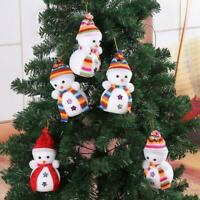 5Pcs Santa Snowman Doll Pendant Christmas Xmas Tree Party Decor Hanging Ornament