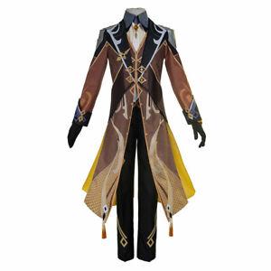 Game Genshin Impact Zhongli Cosplay Costume Outfits Carnival Halloween