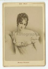 Juliette Recamier - French Society Figure - 19th Century Portrait Cabinet Card