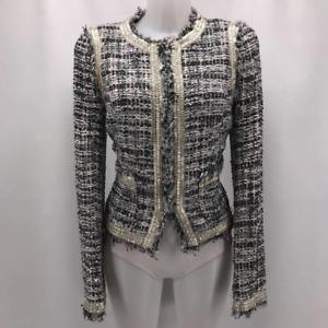 Tory Burch Grey Boucle Jacket 8