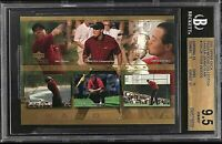 ⛳️2001 Upper Deck Golf Collection Career Grand Slam Tiger Woods ROOKIE BGS 9.5