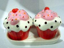salt and pepper pots  shakers sets cruets cupcakes ceramic