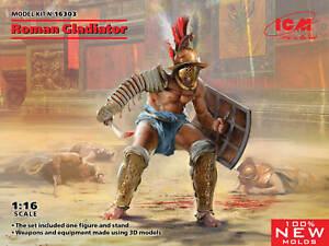 ICM 16303 Roman Gladiator (100% new molds) 1/16
