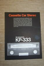 Pioneer KP-333 Car Stereo  Cassette tape   Original Catalogue