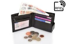 Leather Wallet RFID Anti scan leather wallet change