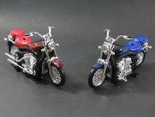 "Lot of 2 Authentic X-MEN by Marvel 8"" motorcycle toy battery powered RED-BLUE"