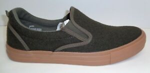 Steve Madden Size 8 MUTT Olive Green Fabric Slip On Loafers New Mens Shoes