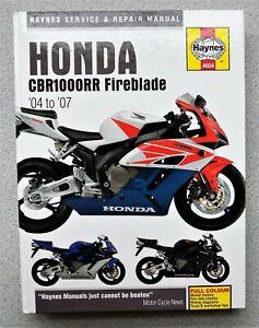 HAYNES HONDA CBR1000RR FIREBLADE MANUAL 2004 / 2007