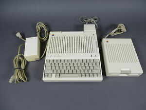 Apple IIc / 2c Computer w/Disk & Power Supply A2S4000 A2M4050