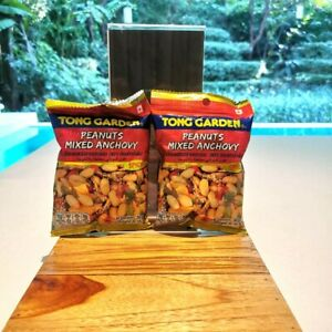 Best 2 Pcs. Thai Peanut Mixed Anchovy Snack Spicy 60g. Tong Garden Chili Herb