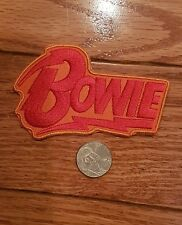 """David bowie  3.5""""X2.25""""  Iron On Embroidered Patch nice"""