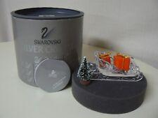 Swarovski Silver Crystal Sleigh With Christmas Tree And Presents
