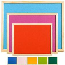 Quality Coloured Cork Pin Notice Message Boards 3 Sizes Pine Frame School Memo
