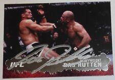 Bas Rutten Signed UFC 2009 Topps Card #51 18 20 Pancrase Hall of Fame Autograph