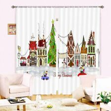 Christmas Light Line 3D Curtain Blockout Photo Printing Curtains Drape Fabric