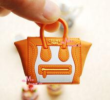 1/6 Scale Dollhouse Miniature Orange  Lady Handbag Bag