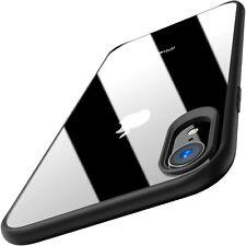 TOZO for iPhone XR Case Hybrid Soft Grip Matte Finish Frame Clear Back Panel Ult