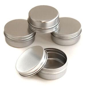 Metal Storage Tin Small Round Craft Stash Pot Lip Balm Jewelery Pills Sample JKA