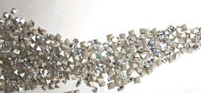100 Swarovski 4428 3mm Xilion Crystal Square Shaped Rhinestones Foiled