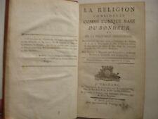 GENLIS - RELIGION CONSIDEREE COMME UNIQUE SOURCE DU BONHEUR 1787