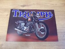 Triumph Sales Brochure Poster T140es Bonneville Electric Start 1980 - Tri-sb-80