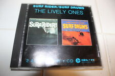 THE LIVELY ONES SURF RIDER SURF DRUMS CD RARE ORIGINAL 1963 DOUBLE CD DICK DALE