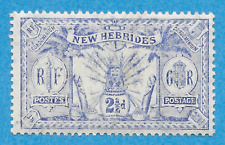 "British New Hebrides   20   Mint  ""Native Idols""  (1911)"