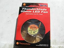 Inutilizzato in scatola Thermaltake Thunderblade A1923 LED rosso Ventola per custodia 9 cm.