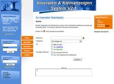 Inseraten und Kleinanzeigen System V2.1 - PHP-Script