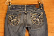 WOMENS MD. BLUE BKE BRAND BOOTCUT EXELLENT CONDITION JEANS SIZE 27X31 1/2   #270