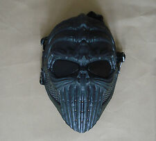 NEW Black Paintball Airsoft Full Face Wire Mesh Eyes Protection Skull Mask DN16