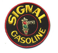 signal gasoline patch badge hot rod gasoline motor oil service station mechanic